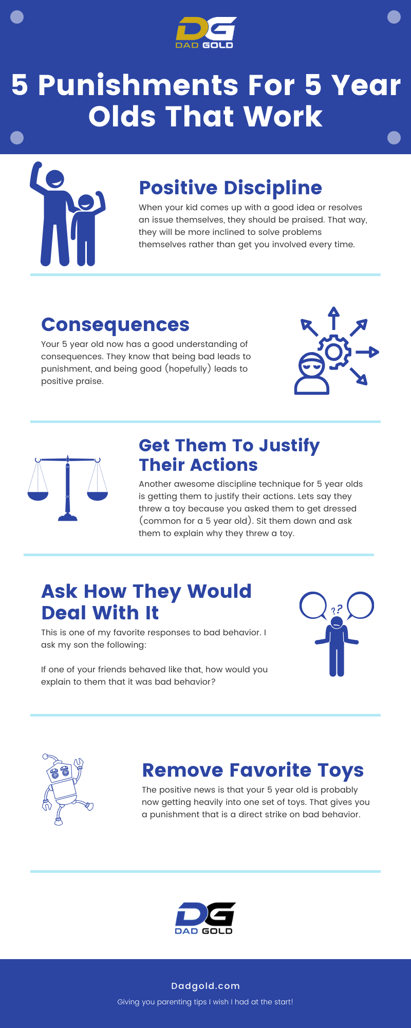 5 Punishments For 5 Year Olds That Work Infographic