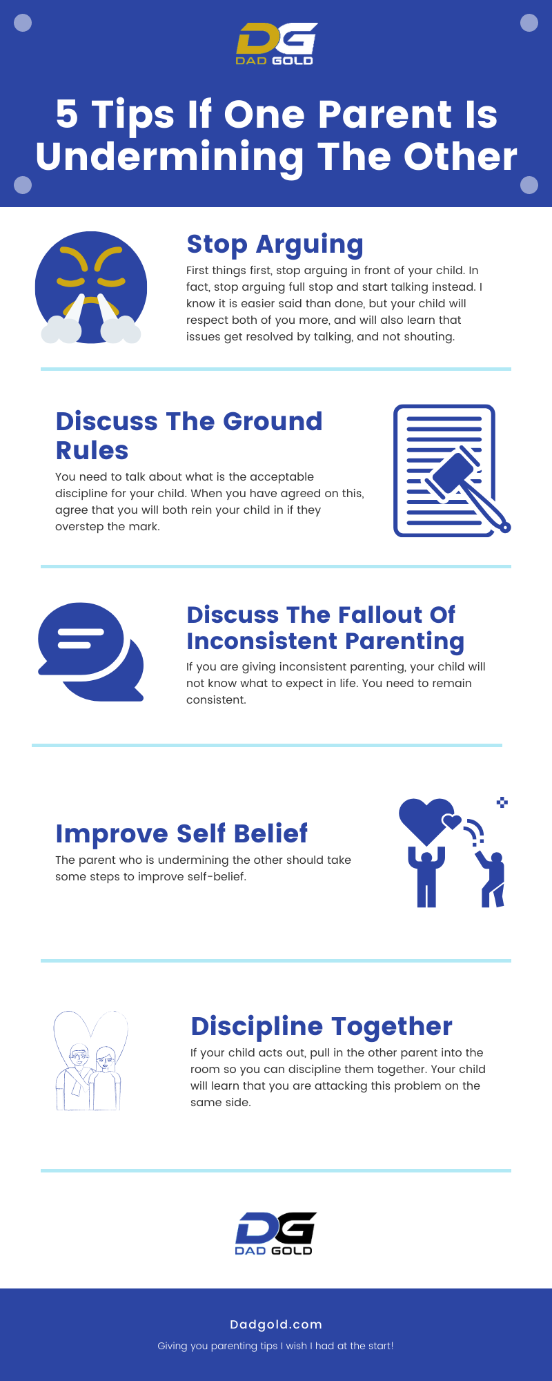 5 Tips If One Parent Is Undermining The Other Infographic