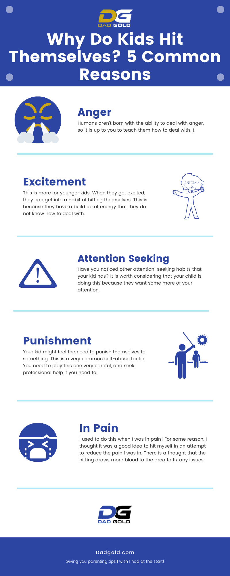 Why Do Kids Hit Themselves? 5 Common Reasons Infographic