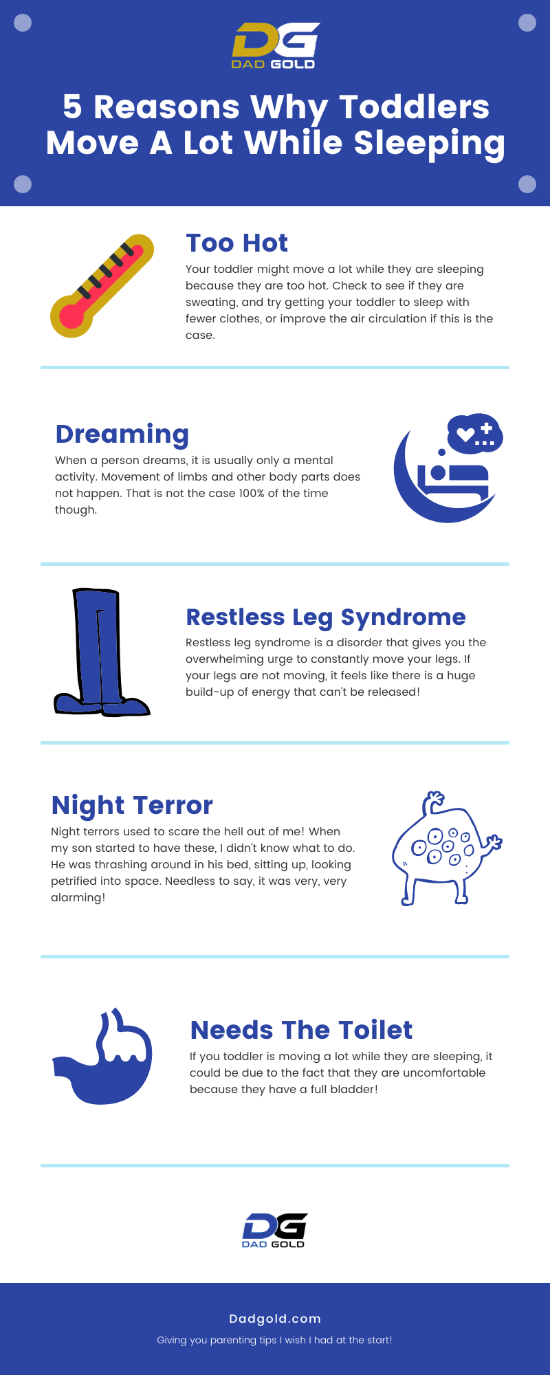 5 Reasons Why Toddlers Move A Lot While Sleeping Infographic Why Do Toddlers Move A Lot While Sleeping