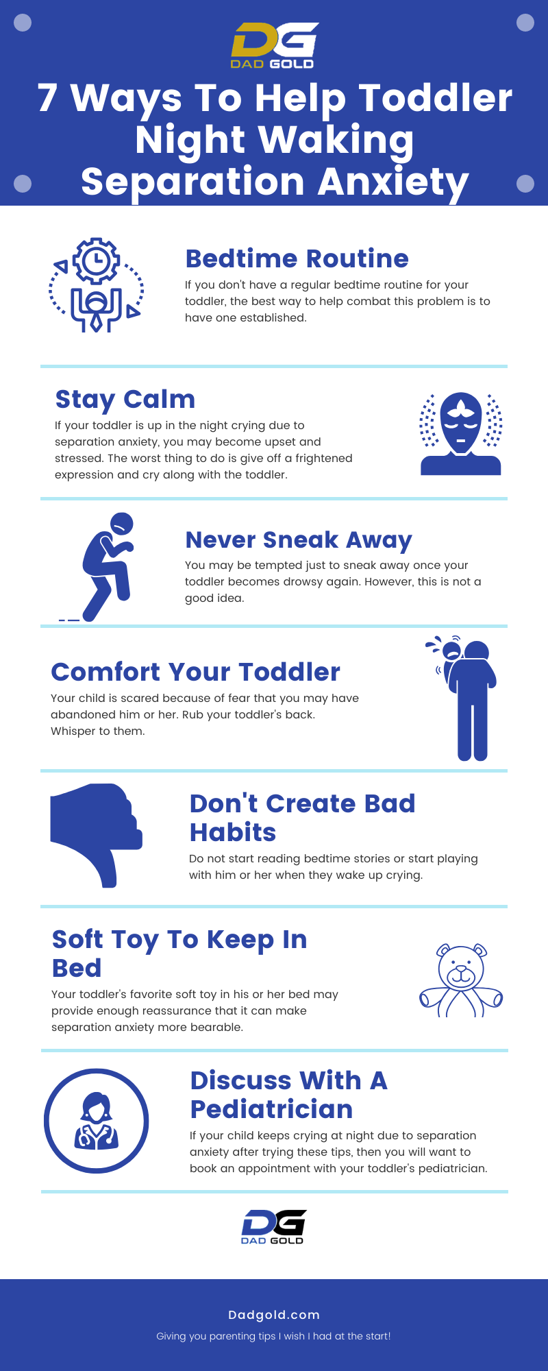 Toddler Night Waking Separation Anxiety Infographic
