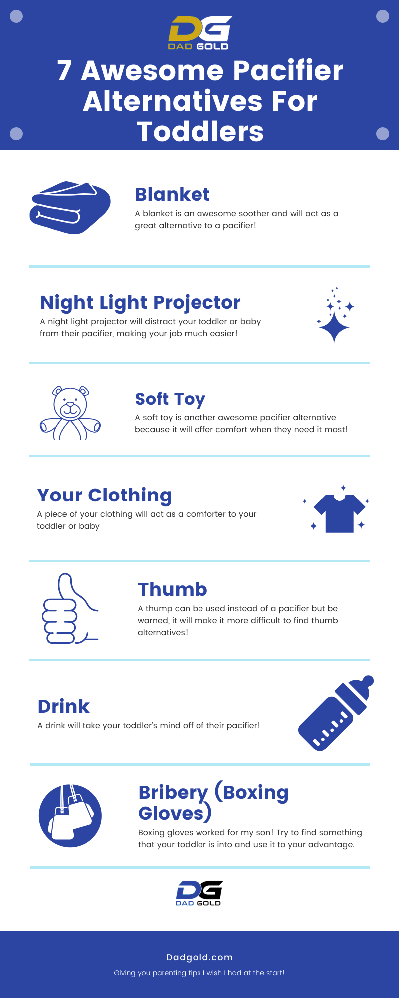 Pacifier Alternatives For Toddlers Infographic