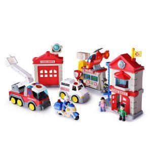 SainSmart Jr. Happkid Fire Station Toy