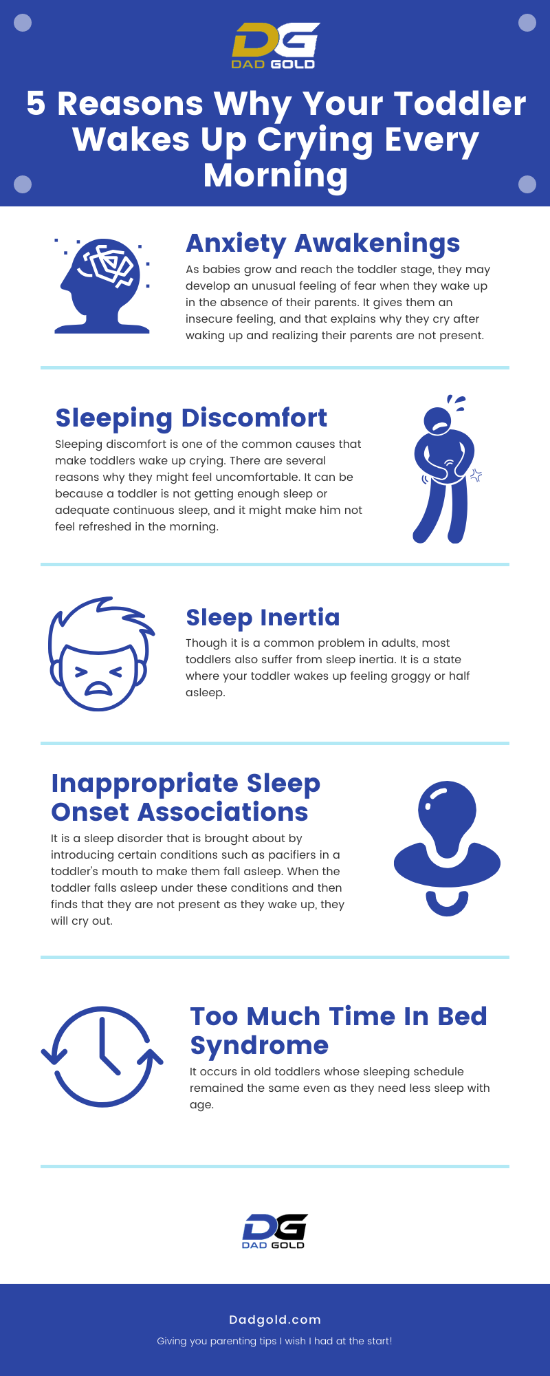 5 Reasons Why Your Toddler Wakes Up Crying Every Morning Infographic
