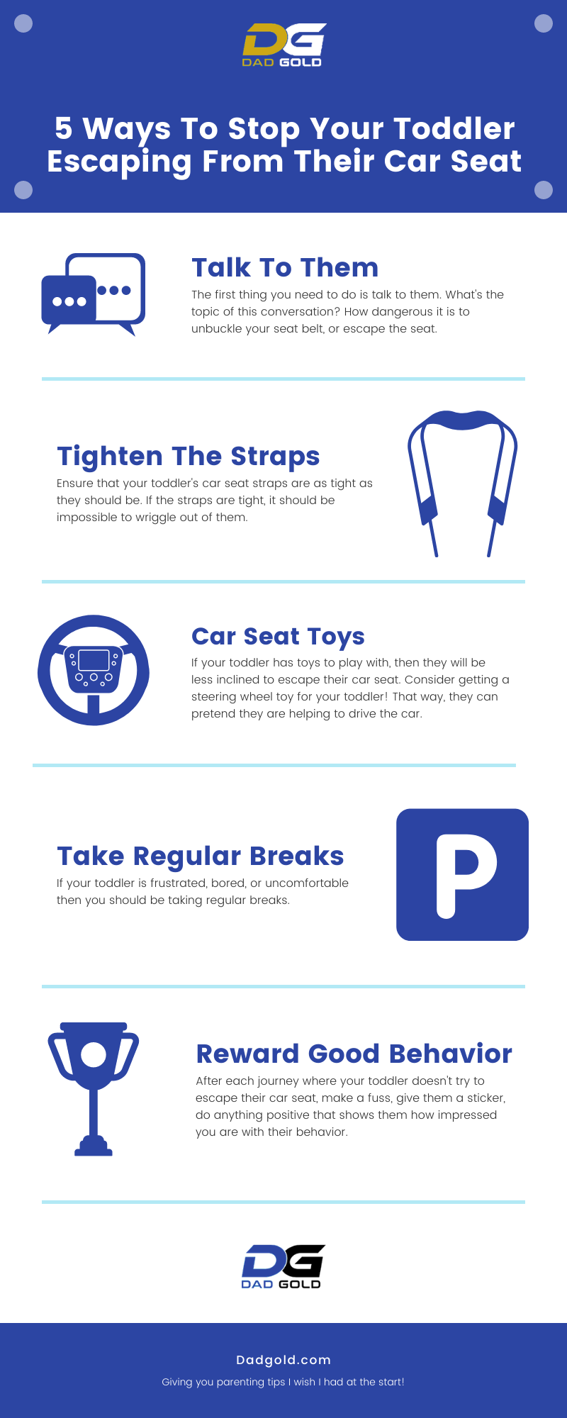 5 Ways To Stop Your Toddler Escaping From Car Seat Infographic