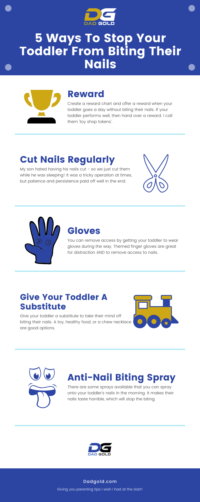 5 Ways To Stop Your Toddler From Biting Their Nails Infographic