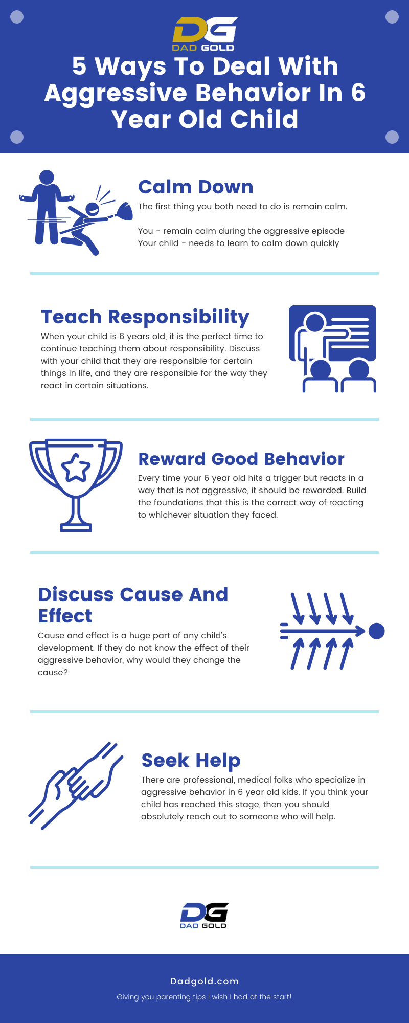 5 Ways To Deal With Aggressive Behavior In 6 Year Old Child Infographic