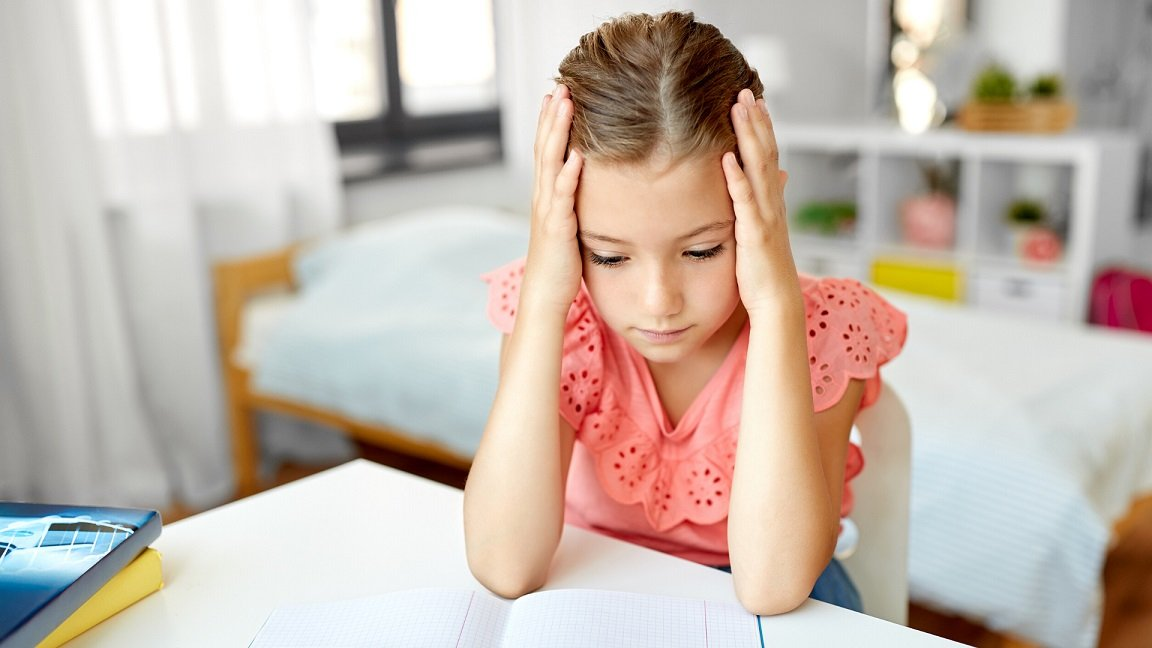 Child With Anxiety About School