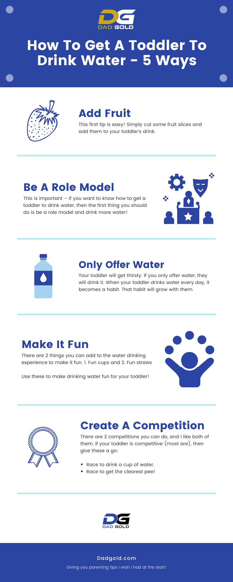 How To Get A Toddler To Drink Water Infographic