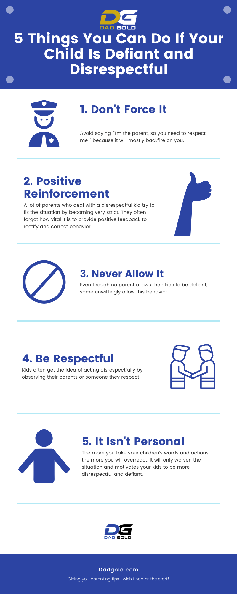 Child Is Defiant and Disrespectful Infographic