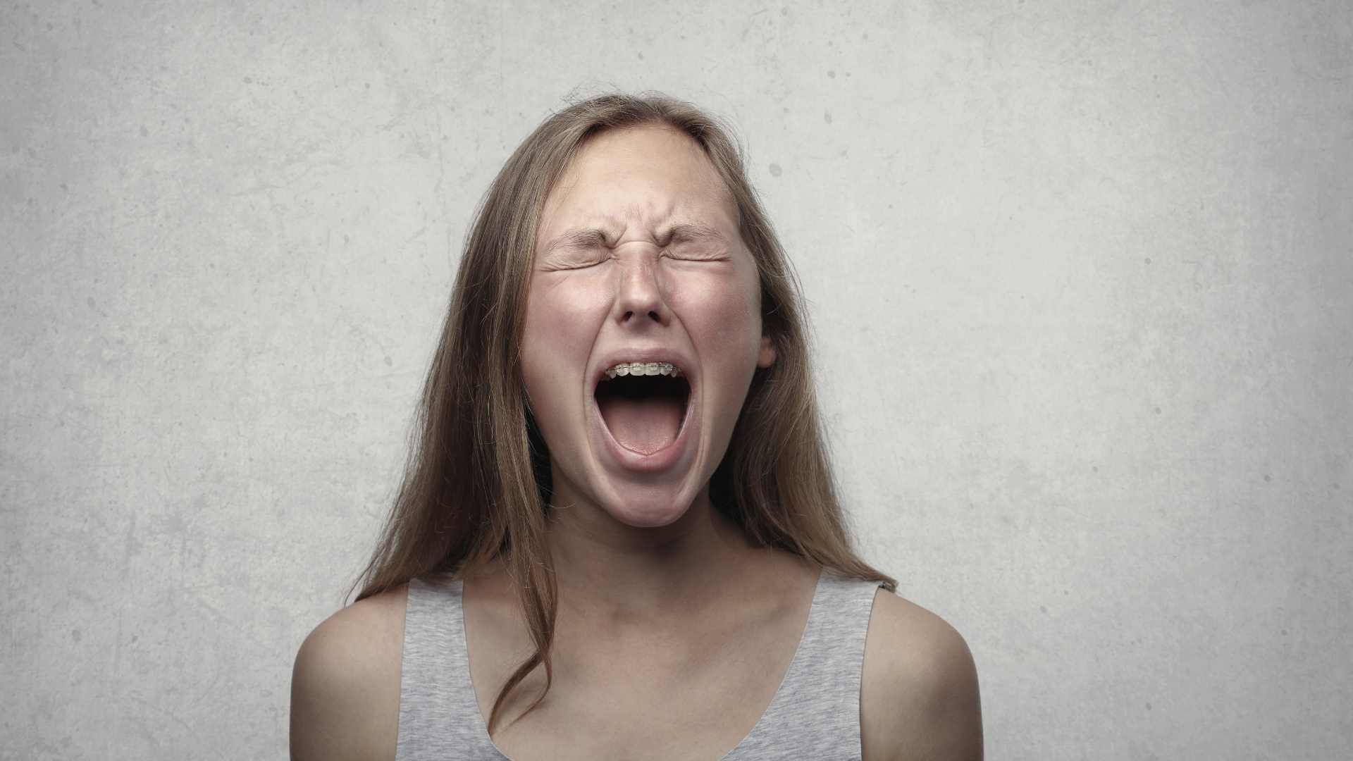 Angry women mom parent screaming and shouting