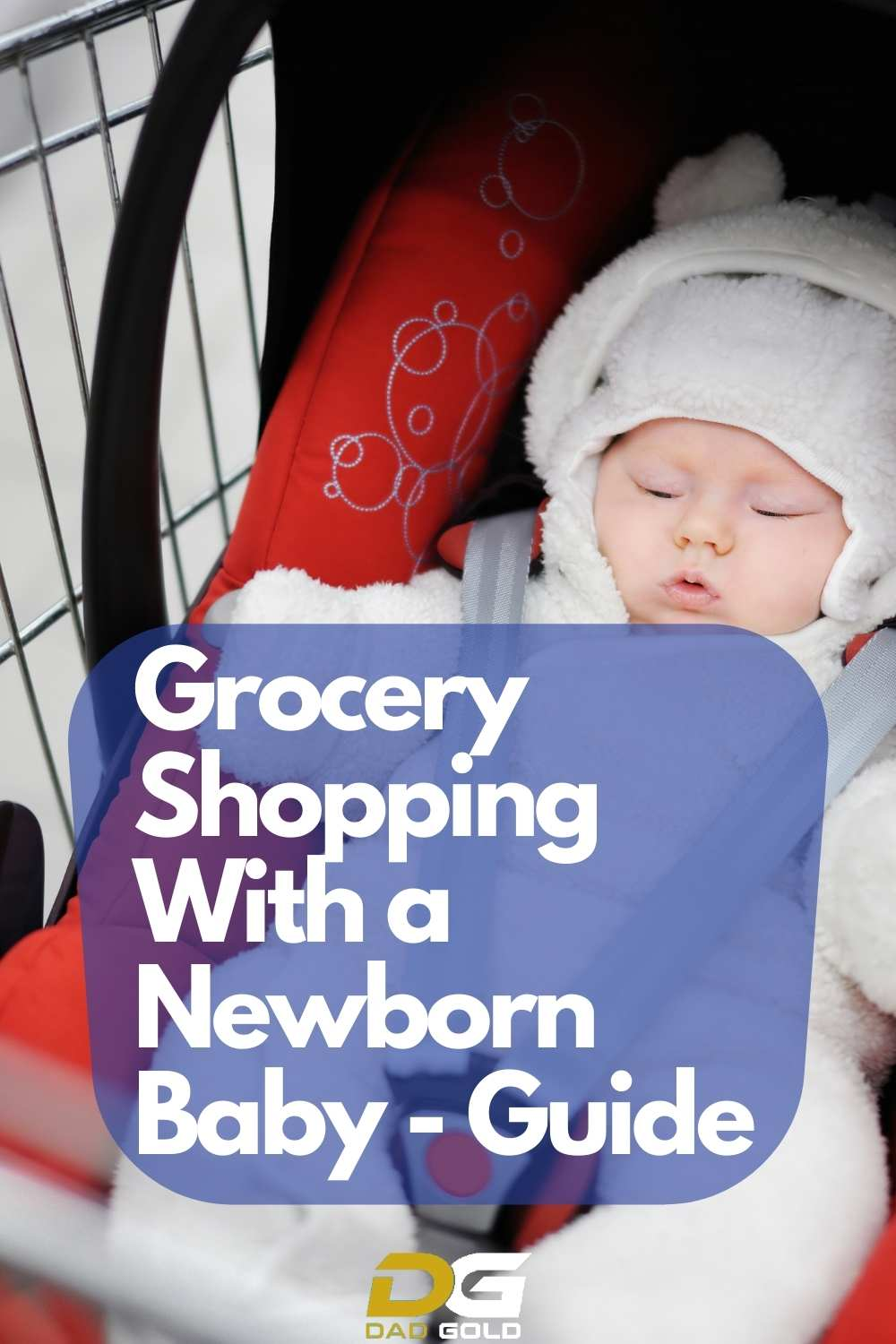 grocery shopping with newborn baby