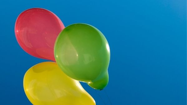 balloons red green yellow