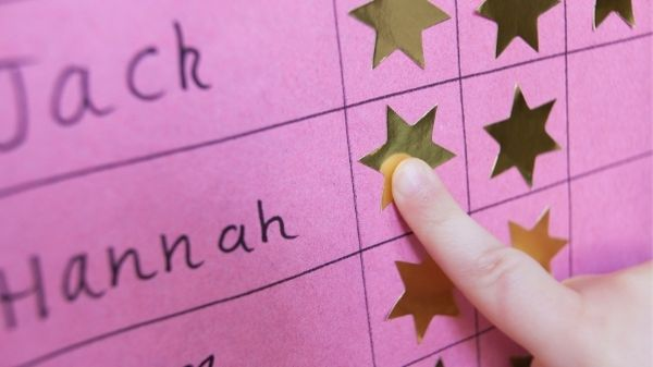 rewards chart with gold stars