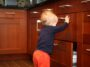 toddler opening drawer